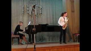 "E.Bozza ""Impromptu et Danse"" for alt saxophone, piano."