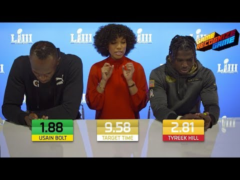 Usain Bolt vs. Tyreek Hill Speed Skills Competition! | Game Recognize Game