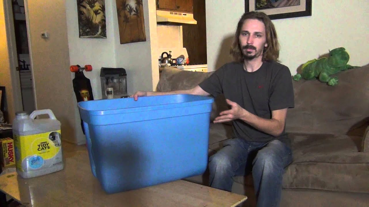 Diy Litter Box For Any Litter Trained Pet Youtube