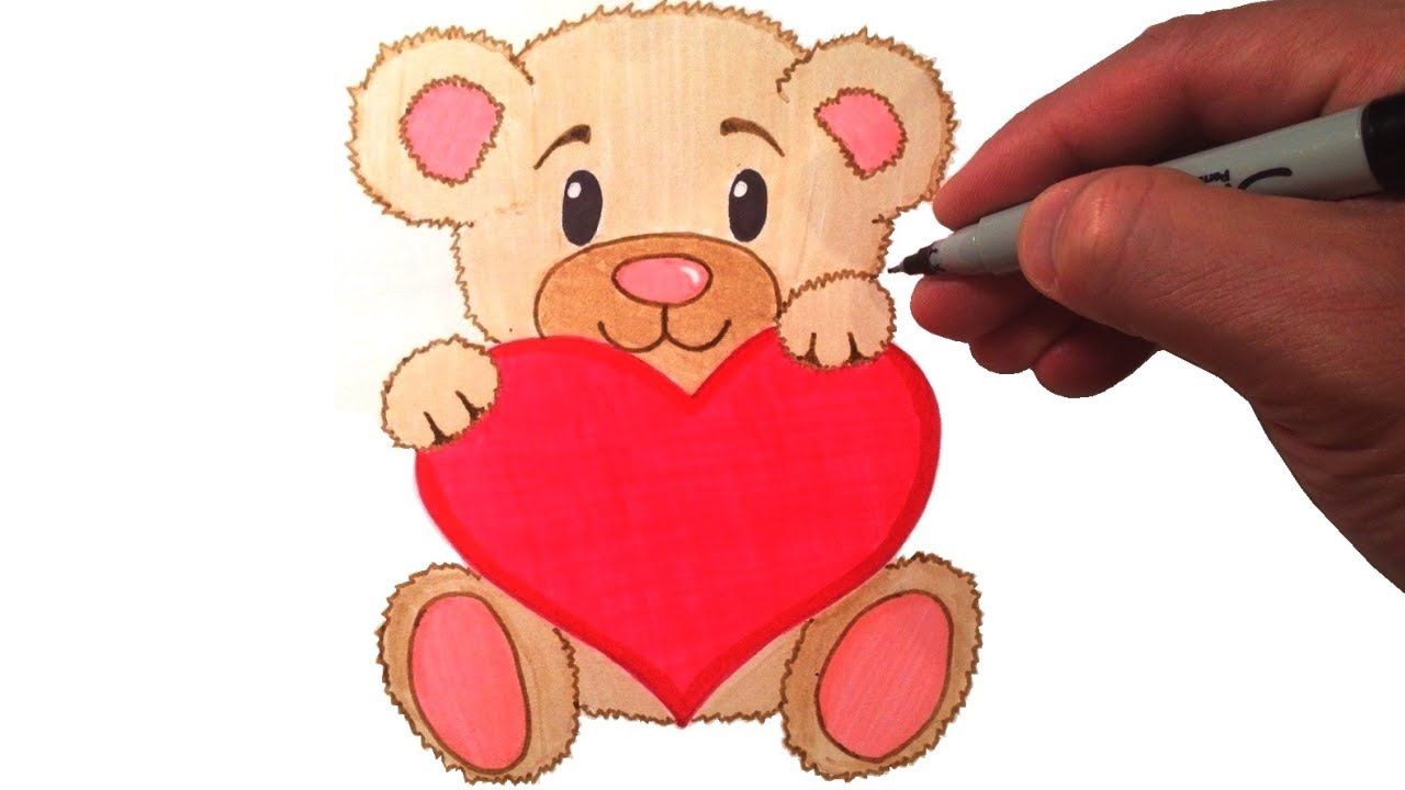 How to draw a cute teddy bear with a heart youtube how to draw a cute teddy bear with a heart altavistaventures Image collections