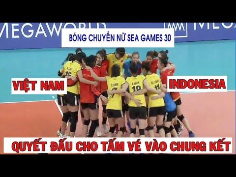 Bóng chuyền nữ Việt Nam vs Indonesia | Sea Games 30 |  Indonesia vs Vietnam women's volleyball 2019.