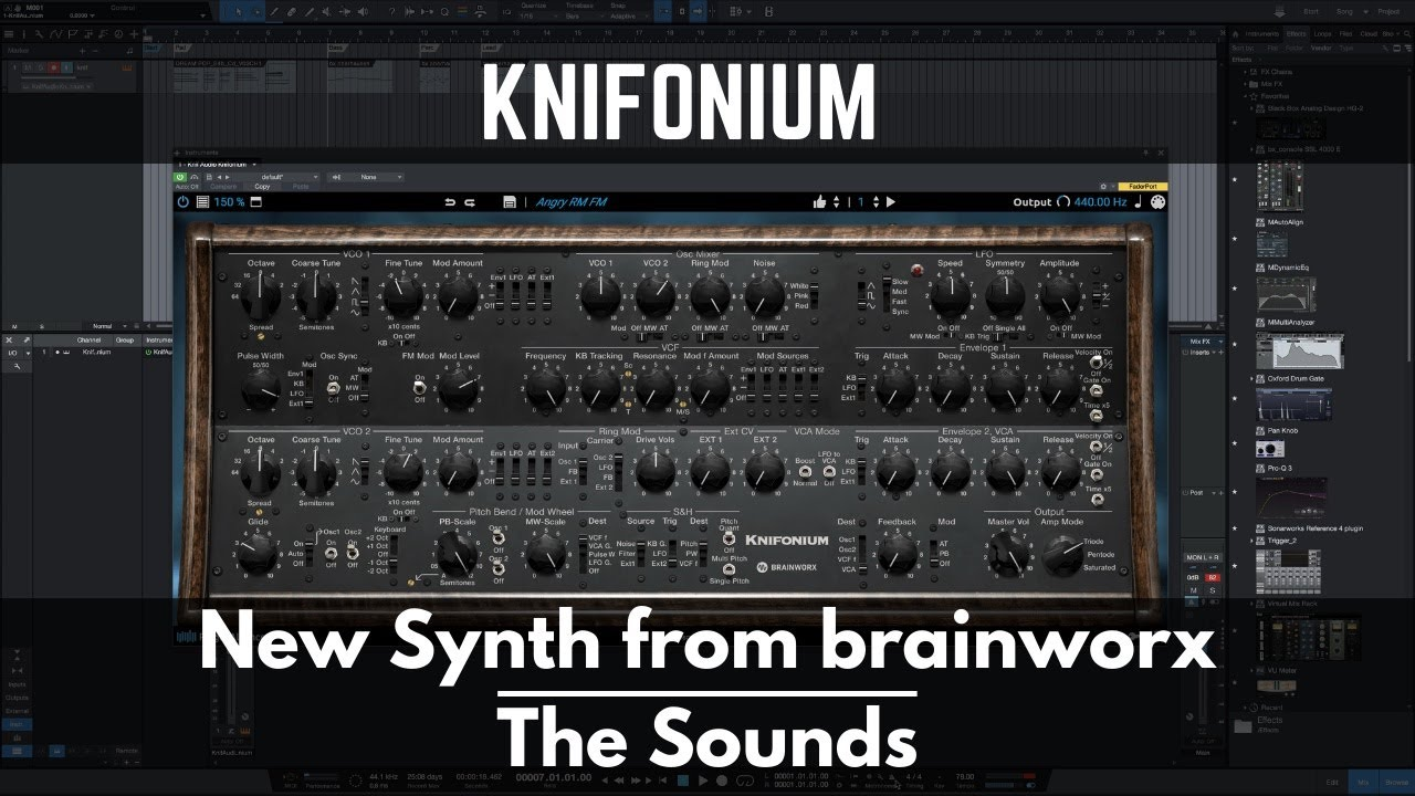Knifonium | New Synth from brainworx | The Sounds