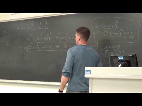 3.6 Derivative of Logarithmic Functions 3.7 Rate of Change in Natural and Social Sciences