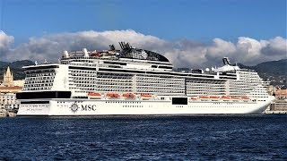 Msc bellissima 4.500 passenger ship is the second meraviglia-class to launch, and debuted in southampton, uk, on march 2, 2019. has s...