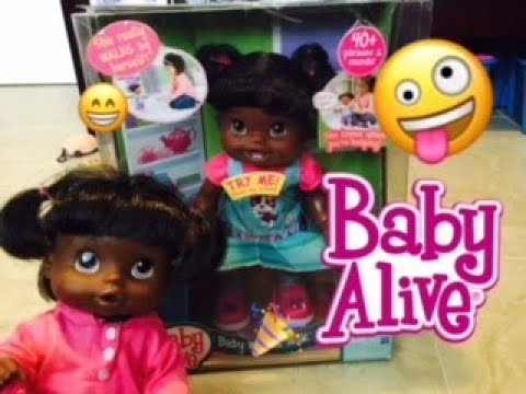 BABY ALIVE: Baby alive baby wanna walk African American unboxing!