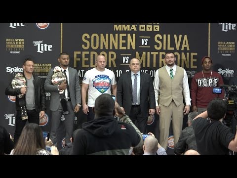 BELLATOR NYC:  SONNEN VS. SILVA;  FEDOR VS. MITRIONE at MSG on June 24th, 2017