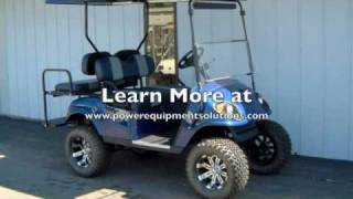 2004 E-Z-GO Gas Street-Ready Custom Golf Cart Blue