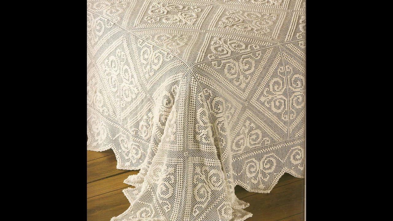 Crochet Patterns| for free |crochet bedspread| 1700 - YouTube