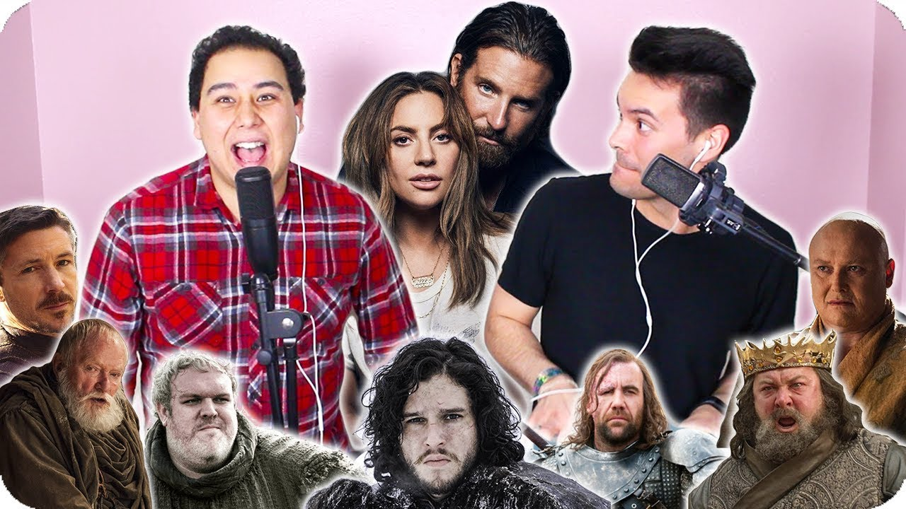 Lady Gaga Bradley Cooper Shallow Game Of Thrones Impersonation Cover Live One Take