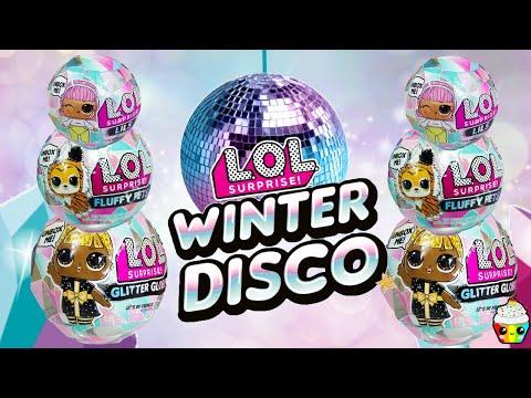 LOL Surprise WINTER DISCO Glitter Globe, Fluffy Pets, & Lils Cupcake Kids Club