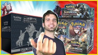 Simply Pokemon Sun and Moon Burning Shadows Elite Trainer & Booster Box Opening!