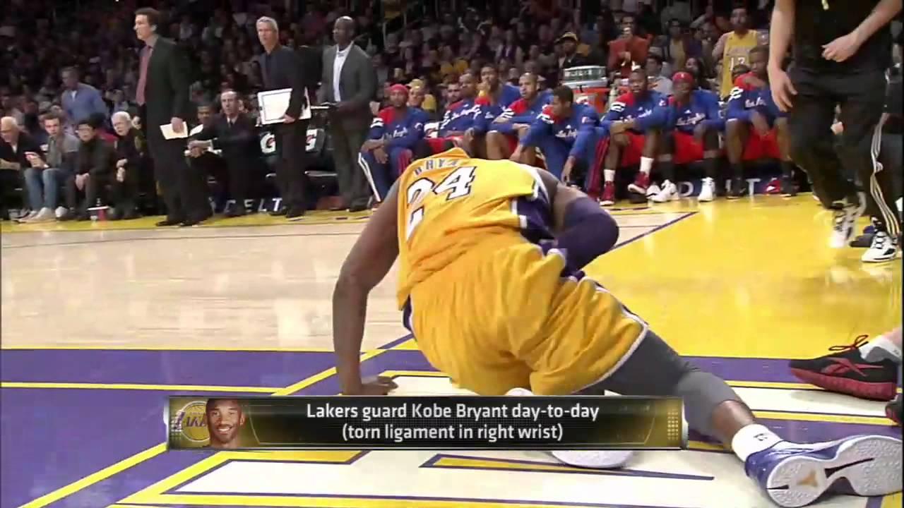 Lakers Kobe Bryant's Wrist Injury Update - HD Review - YouTube Kobe Bryant Injury