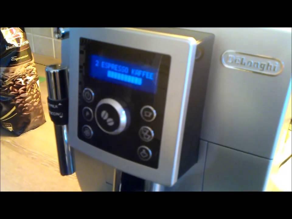 erststart start up delonghi ecam sb kaffeevollautomat cappuccino espresso zubereitung. Black Bedroom Furniture Sets. Home Design Ideas