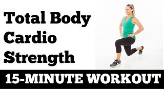 January Jump Start Workout #3: 15-Minute Cardio Strength Workout with Dumbbells
