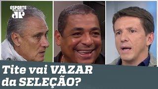 """Tite vai VAZAR da Seleção? Vampeta faz """"FOFOCA"""" de pentacampeão mundial!"""