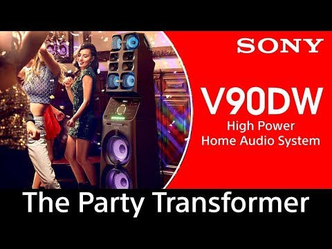 Sony MHC-V90DW -  High Power Audio System with Party Lights and Karaoke | MUTEKI