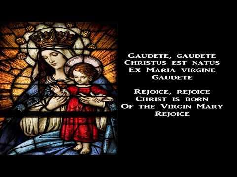 Gaudete, Christus est natus - Christmas Carol (with lyrics)