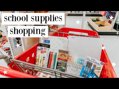 school supplies shopping vlog 2020 + giveaway