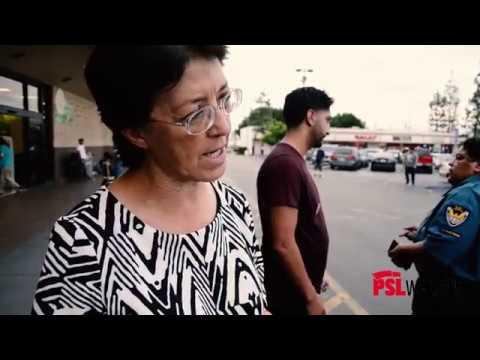 Presidential Candidate Gloria La Riva Campaigns in Los Angeles