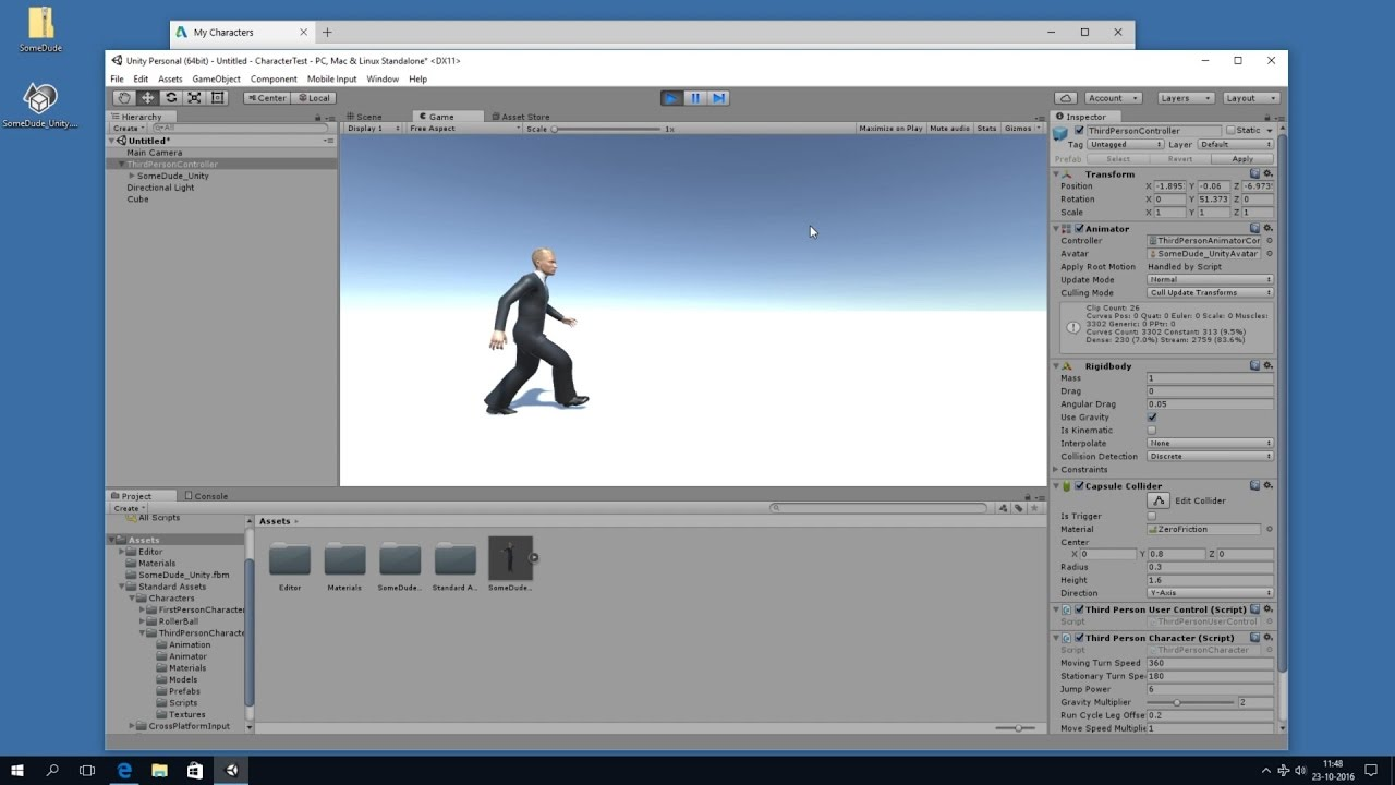 Autodesk Character Generator to Unity (fully animated)