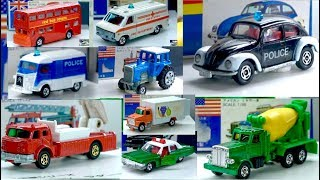 Tomica Working car   Fire engine   ambulance   Police car   Tow truck