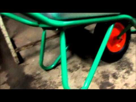 Как собрать тачку садовую с одним колесом