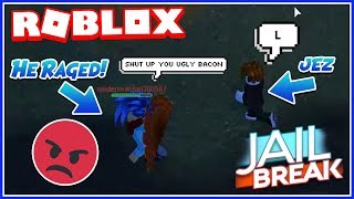 "JEZ FROM ""THE LAST GUEST"" VS RAGE QUITTERS! (Roblox Jailbreak Trolling)"