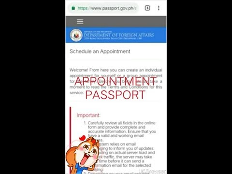 Online Appointment Passport Using Cellphone 2019