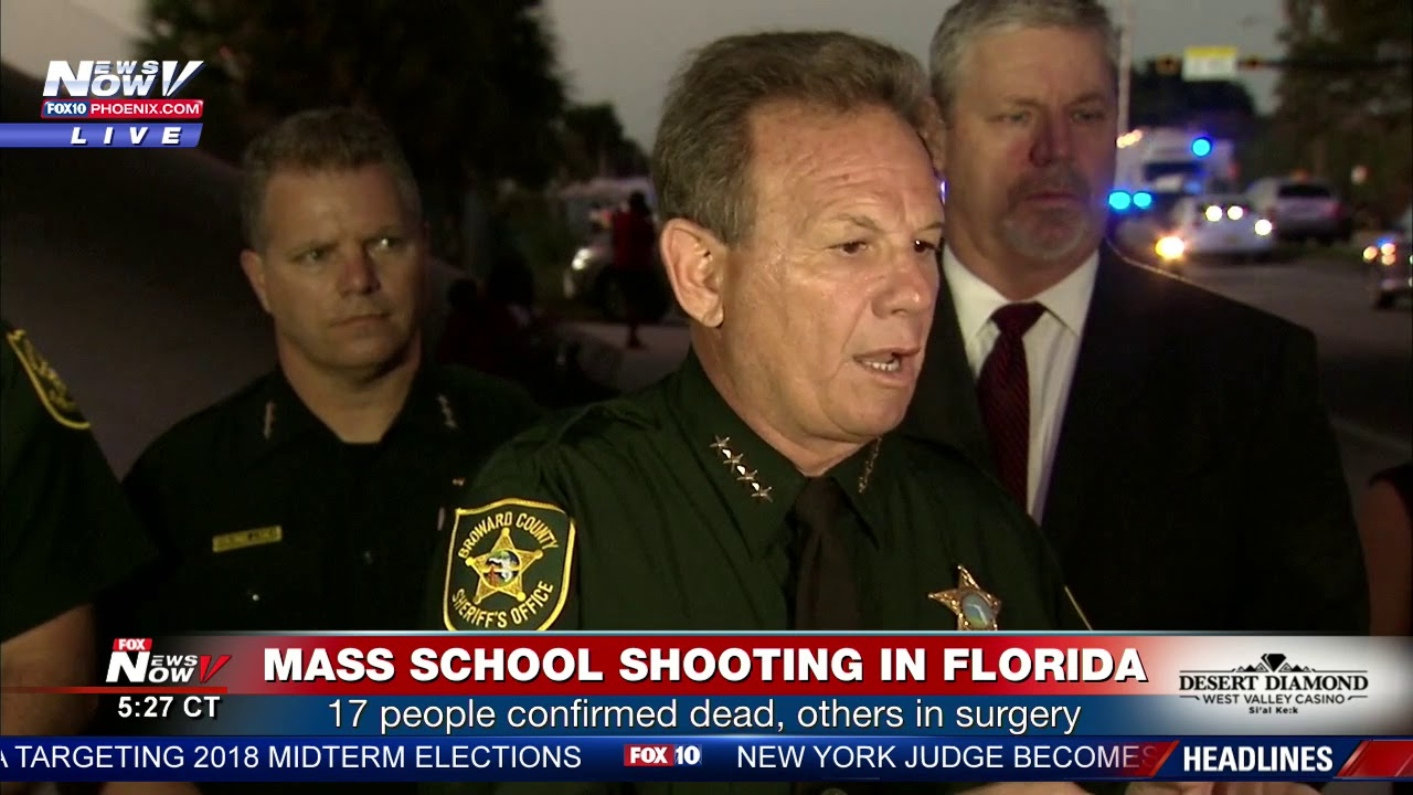 SCHOOL SHOOTING DETAILS: Broward County Sheriff Scott Israel confirms 17  dead in FL shooting (FNN)