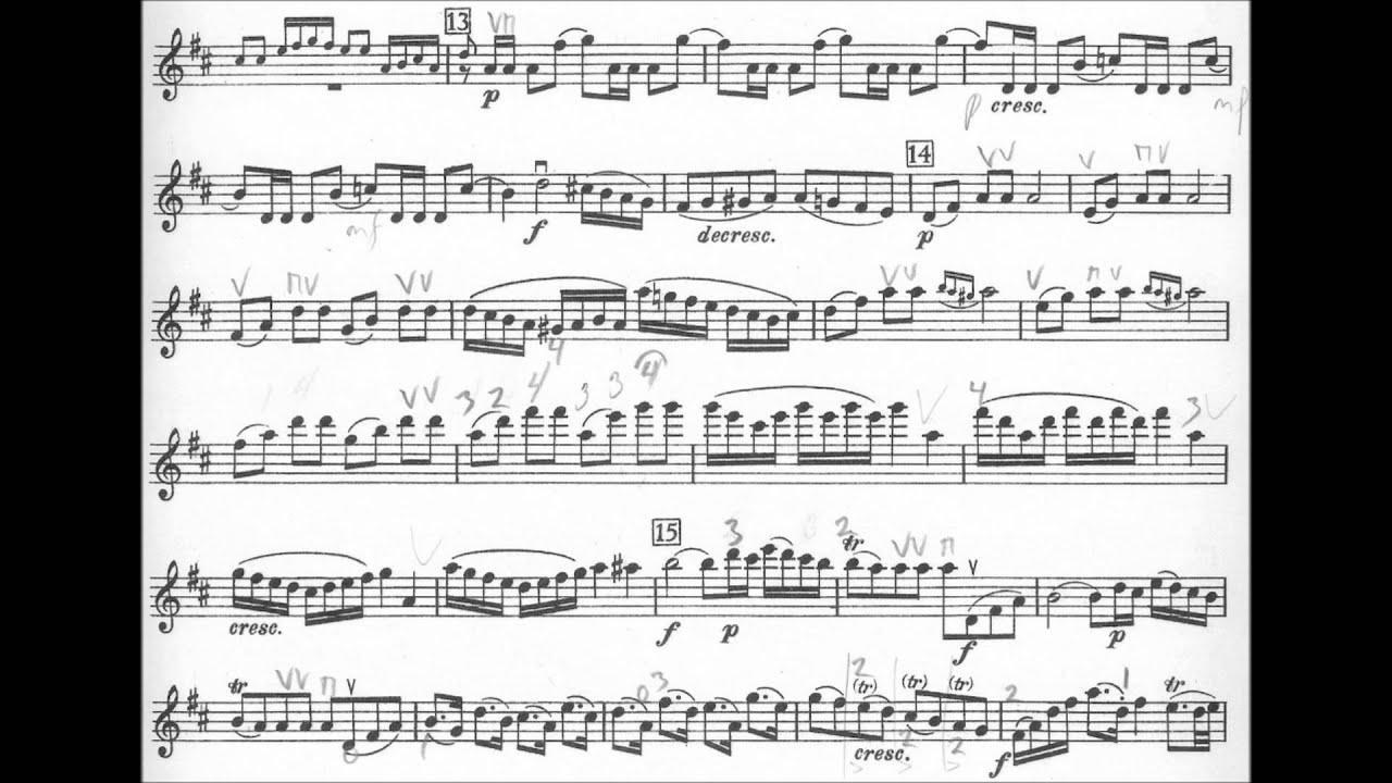 Mozart Konzert in D für Violine und Orchester Partitur