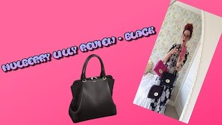 73cfe45b46f6 Review of mulberry lily bag in black silky snake leather regular size with gold  hard wear