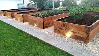 Beautiful DIY Raised Garden Bed Build  -  How to Build a RAISED BED  ,Backyard Gardening