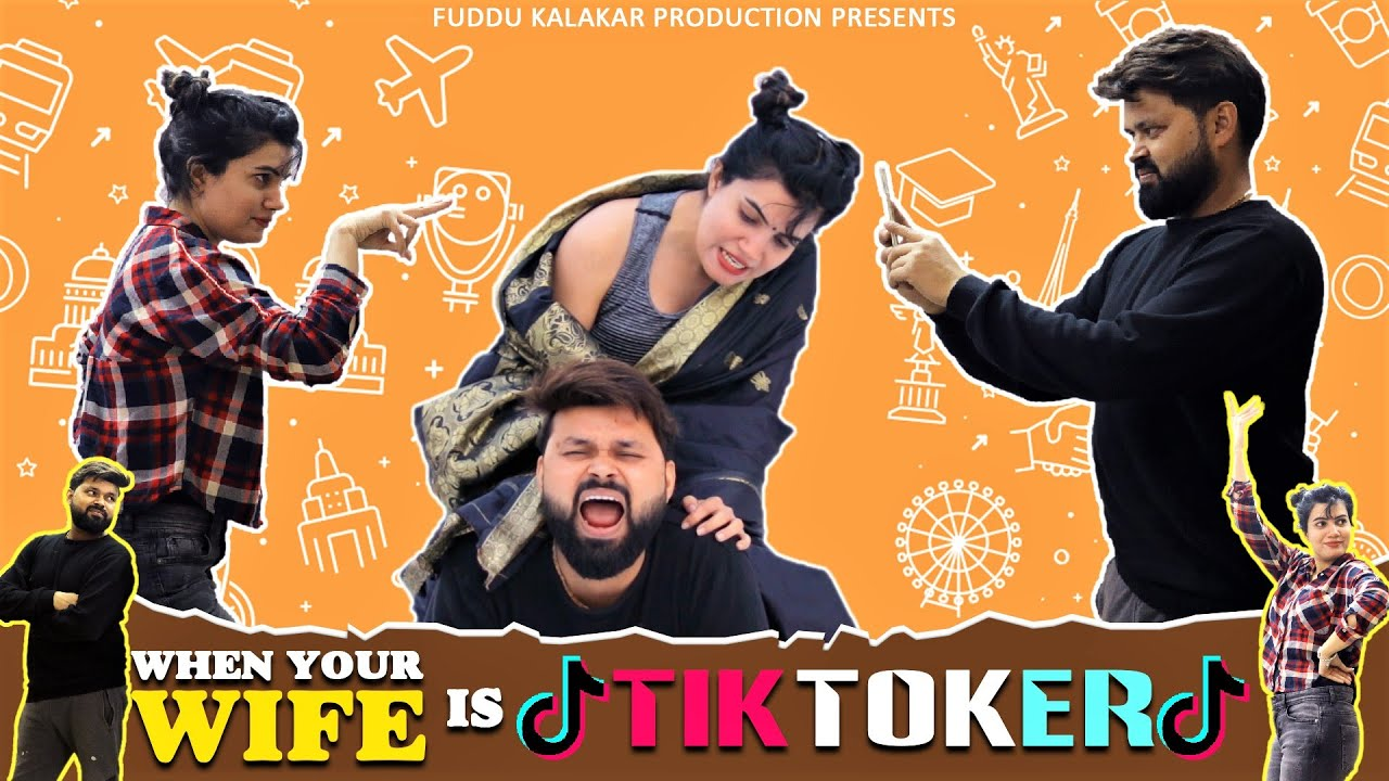 Download When Your Wife Is Tik Toker | Husband Wife Tik Tok Videos | Fuddu Kalakar
