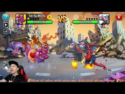 ✔️Lap 20 Rồng Vip Xinh Đẹp Dragon City HNT chơi game Nông Trại Rồng HNT Channel New
