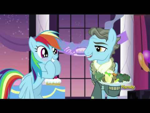 Rarity and Rainbow Dash meet Wind Rider