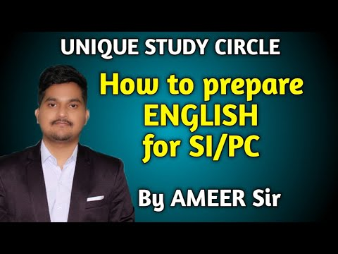 How to prepare ENGLISH for SI & PC