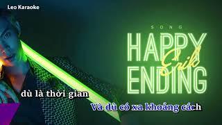 Happy ending KARAOKE hạ tone ( Dm ) || Erik