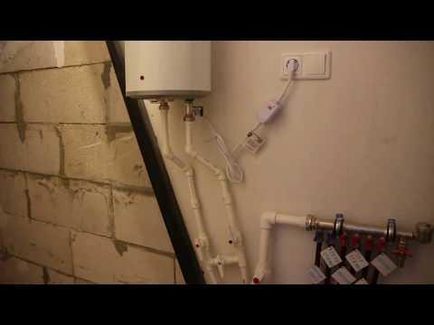 Удобное горячее водоснабжение частного дома. Газовый котел + эл.бойлер