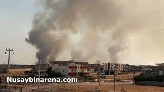 Suriye Kamışlı ilçesi adeta yanıyor!