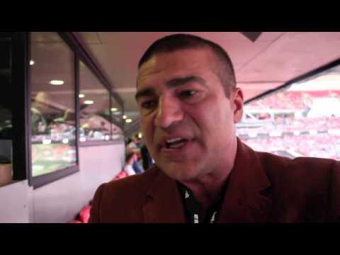 BRITISH ACTOR TAMER HASSAN TALKING FROCH v GROVES 2 @ WEMBLEY STADIUM