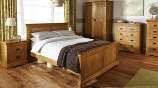 Farmhouse Country Oak Bedroom Furniture Roomset