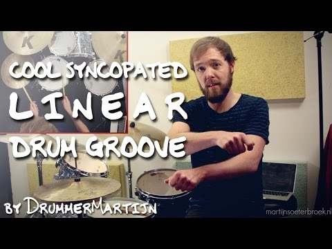 Cool Syncopated Linear Drum Groove // Drum Lesson w/ DrummerMartijn