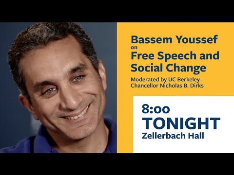 Tonight: Bassem Youssef at Zellerbach Hall, 8pm