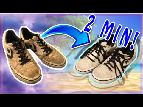 Dirty To Clean in 2 minutes - How to clean white shoes!
