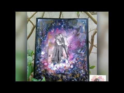 Resin Picture Canvas - Galaxy Theme