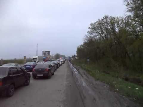 Пробка на погранпереходе Гоптивка-Нехотеевка