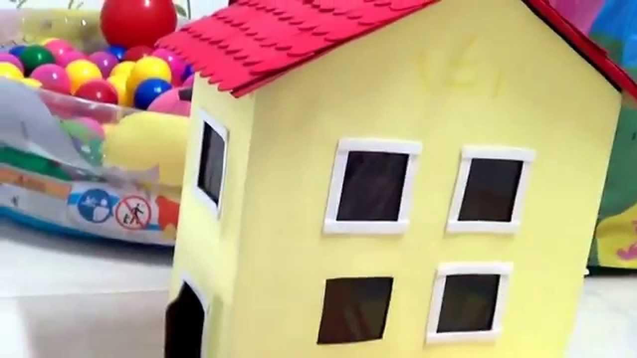 Casa da Peppa Pig de papelo  Como eu fiz  YouTube