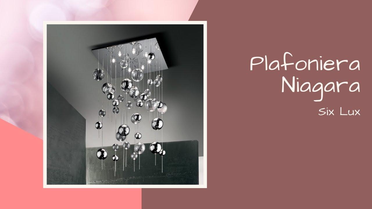 Plafoniere Con Vetro : Plafoniera sil lux niagara con sfere in vetro soffiato youtube