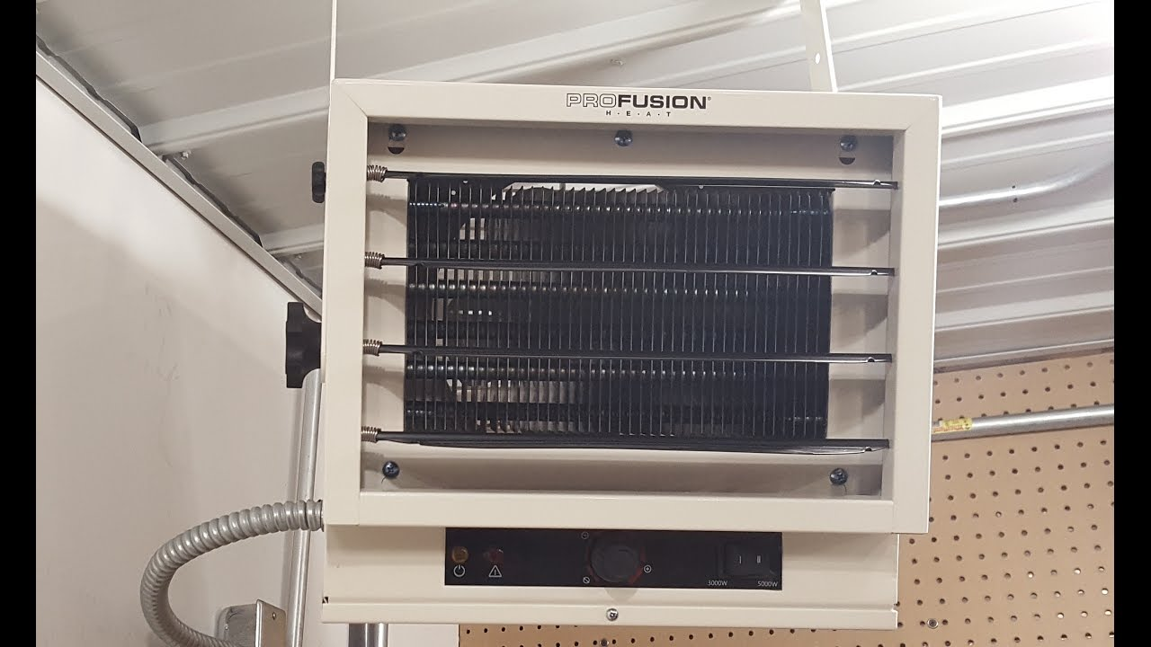 How to install garage heater 220 volt 5000 watt - YouTube