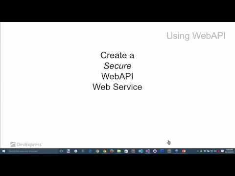 Using a Secure WebAPI Web Service from a Mobile App